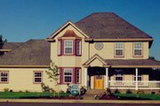 Traditional Style House Plan - 3 Beds 2.5 Baths 1766 Sq/Ft Plan #124-305 Exterior - Front Elevation