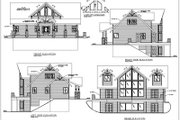 Modern Style House Plan - 3 Beds 2.5 Baths 2281 Sq/Ft Plan #117-380 Exterior - Rear Elevation