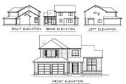 Traditional Style House Plan - 3 Beds 2.5 Baths 1880 Sq/Ft Plan #100-448 Exterior - Rear Elevation