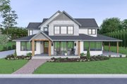 Farmhouse Style House Plan - 4 Beds 3.5 Baths 3275 Sq/Ft Plan #1070-41 Exterior - Front Elevation