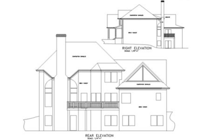 Southern Exterior - Rear Elevation Plan #56-197 - Houseplans.com