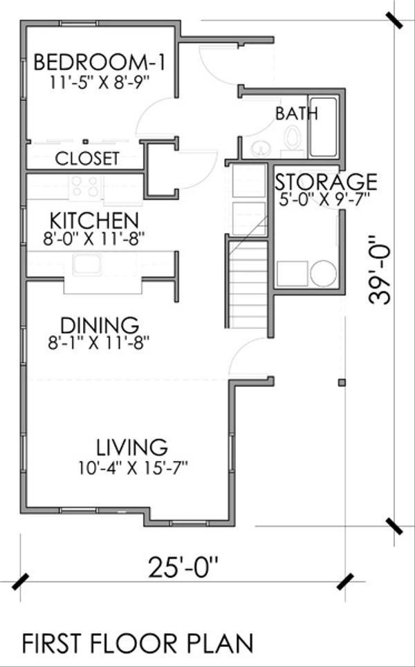 Craftsman Floor Plan - Main Floor Plan Plan #518-7