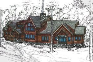 Craftsman Exterior - Front Elevation Plan #921-1