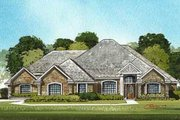 Traditional Style House Plan - 4 Beds 3.5 Baths 3142 Sq/Ft Plan #65-101 Exterior - Front Elevation