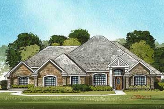 Traditional Exterior - Front Elevation Plan #65-101