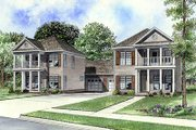 Southern Style House Plan - 3 Beds 2.5 Baths 1687 Sq/Ft Plan #17-655 Exterior - Other Elevation