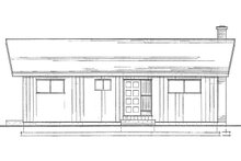 Dream House Plan - Cottage Exterior - Rear Elevation Plan #126-215