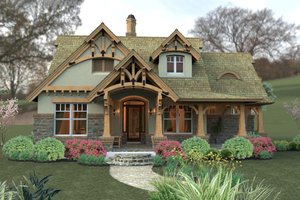 House Plan Design - Storybook craftsman cottage - 1400sft