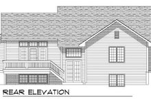 Home Plan - Traditional Exterior - Rear Elevation Plan #70-755