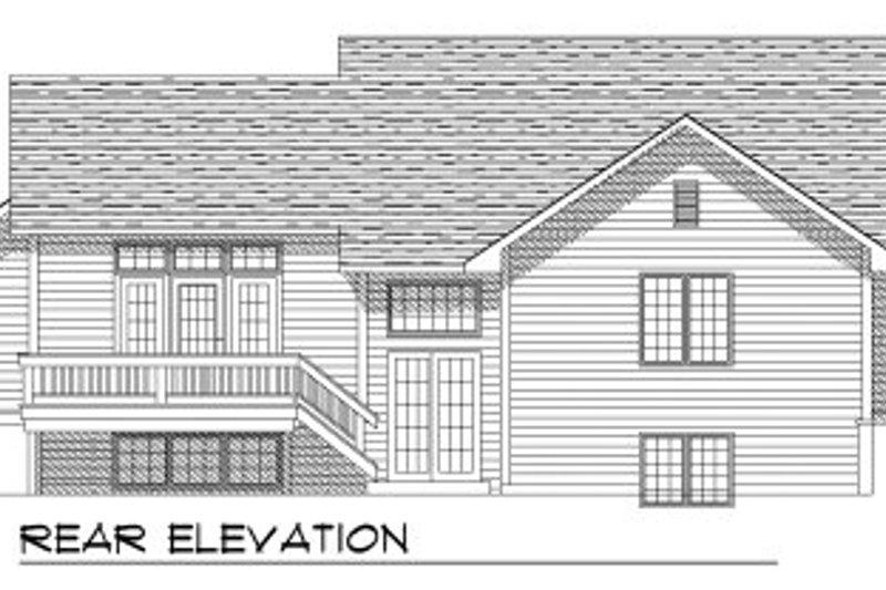 Traditional Exterior - Rear Elevation Plan #70-755 - Houseplans.com
