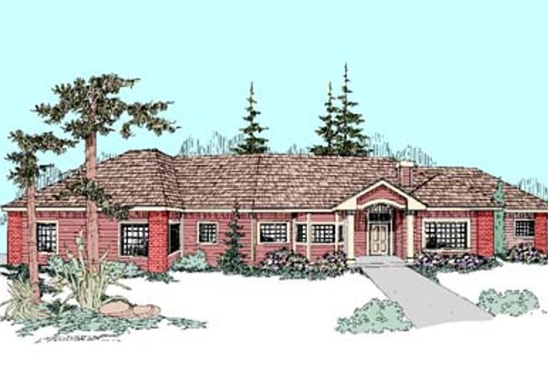 Traditional Exterior - Front Elevation Plan #60-443 - Houseplans.com