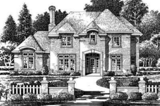 European Exterior - Front Elevation Plan #141-119
