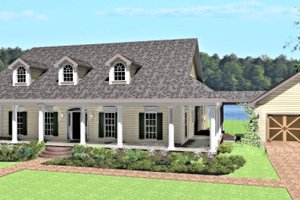 Country Exterior - Front Elevation Plan #44-174