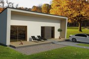 Contemporary Style House Plan - 2 Beds 1 Baths 856 Sq/Ft Plan #906-9 Exterior - Front Elevation