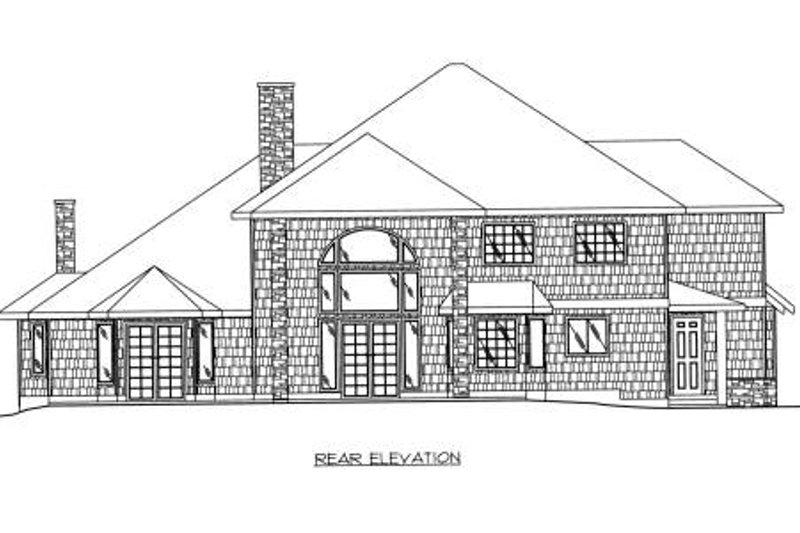 European Exterior - Rear Elevation Plan #117-562 - Houseplans.com