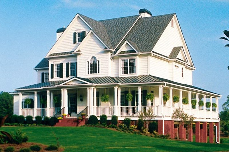 Country Exterior - Front Elevation Plan #927-37 - Houseplans.com