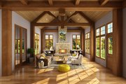 European Style House Plan - 4 Beds 3.5 Baths 3922 Sq/Ft Plan #942-38 Interior - Family Room