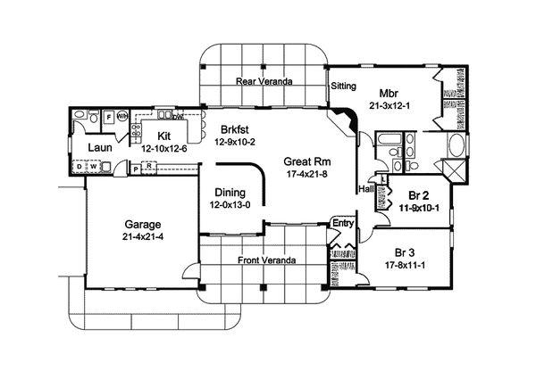Dream House Plan - Mediterranean Floor Plan - Main Floor Plan #57-687