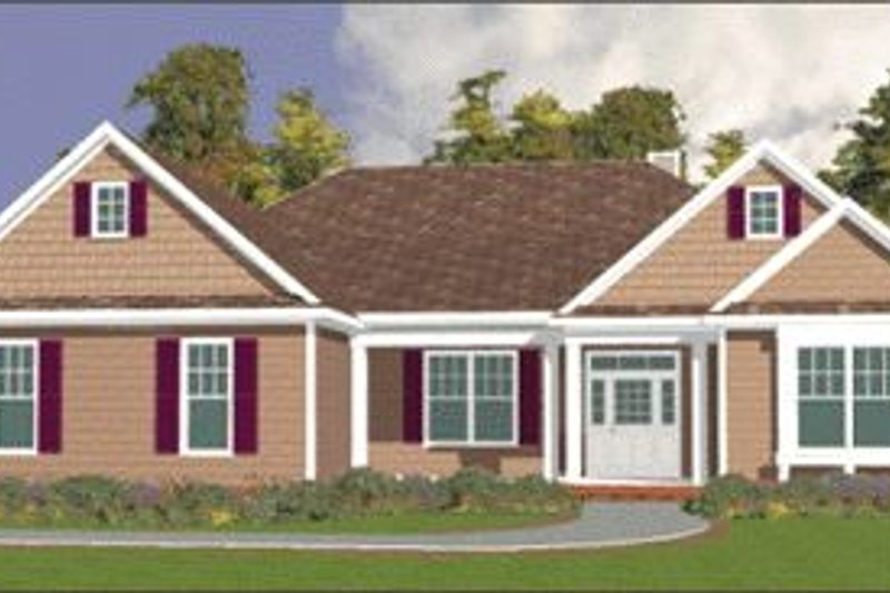Southern Style House Plan - 4 Beds 2.5 Baths 2763 Sq/Ft Plan #63-113 Exterior - Front Elevation