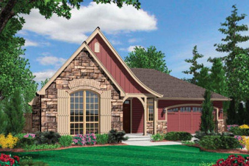 Cottage Exterior - Front Elevation Plan #48-278