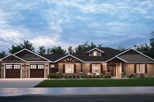 Craftsman Exterior - Front Elevation Plan #1077-2