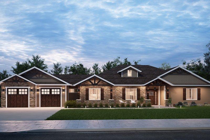 House Plan Design - Craftsman Exterior - Front Elevation Plan #1077-2