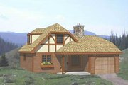 Tudor Style House Plan - 4 Beds 1.5 Baths 1005 Sq/Ft Plan #116-111 Exterior - Front Elevation