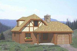 Tudor Exterior - Front Elevation Plan #116-111