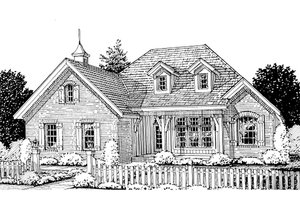 Traditional Exterior - Front Elevation Plan #20-1360