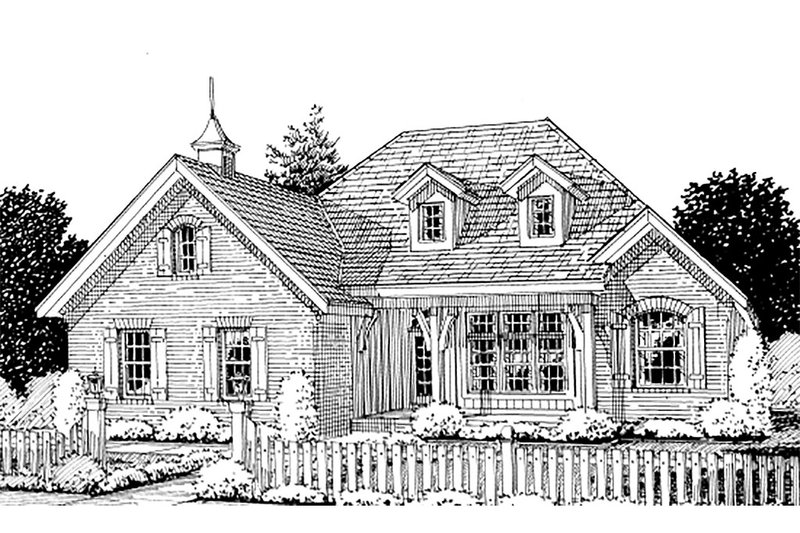 Dream House Plan - Traditional Exterior - Front Elevation Plan #20-1360