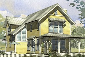 Beach Exterior - Front Elevation Plan #901-131