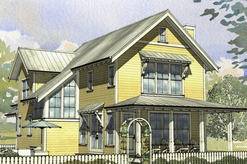 Dream House Plan - Beach Exterior - Front Elevation Plan #901-131