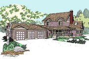 Traditional Style House Plan - 3 Beds 2.5 Baths 2257 Sq/Ft Plan #60-554 Exterior - Front Elevation