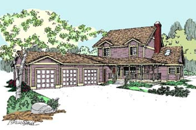 Traditional Exterior - Front Elevation Plan #60-554 - Houseplans.com