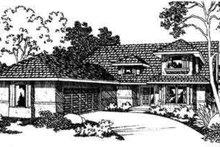Dream House Plan - Mediterranean Exterior - Front Elevation Plan #124-337