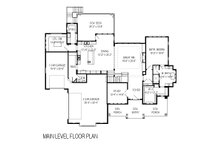 Craftsman Floor Plan - Main Floor Plan Plan #920-1