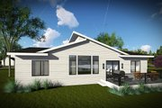 Contemporary Style House Plan - 3 Beds 2 Baths 1583 Sq/Ft Plan #70-1455 Exterior - Rear Elevation