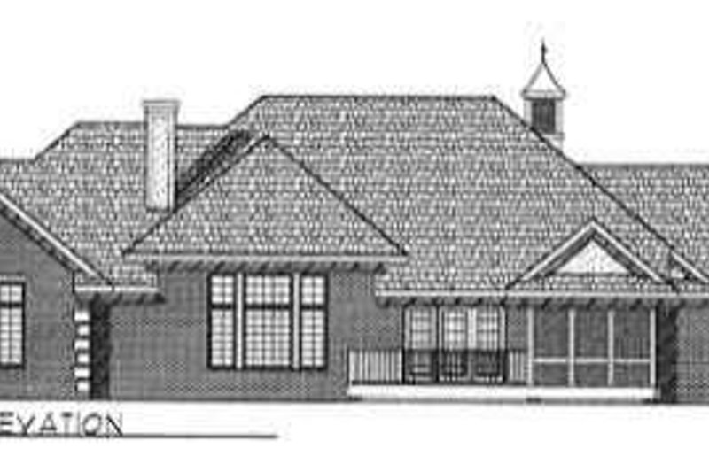 Ranch Exterior - Rear Elevation Plan #70-334 - Houseplans.com