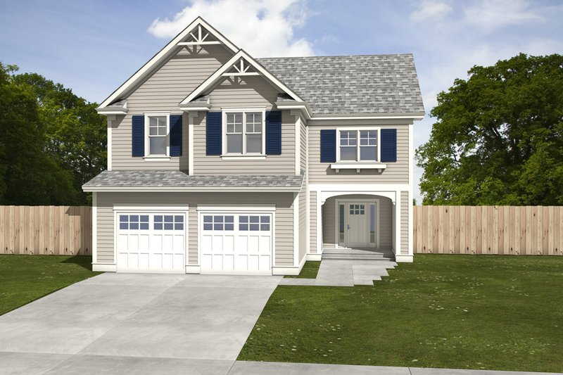 House Blueprint - Traditional Exterior - Front Elevation Plan #497-4