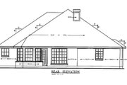Traditional Style House Plan - 3 Beds 2 Baths 1561 Sq/Ft Plan #42-163 Exterior - Rear Elevation