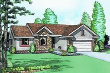 Traditional Exterior - Front Elevation Plan #20-440