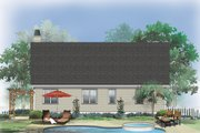 Country Style House Plan - 3 Beds 2 Baths 1228 Sq/Ft Plan #929-566 Exterior - Rear Elevation