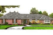 European Style House Plan - 3 Beds 3.5 Baths 1810 Sq/Ft Plan #310-658 Exterior - Front Elevation