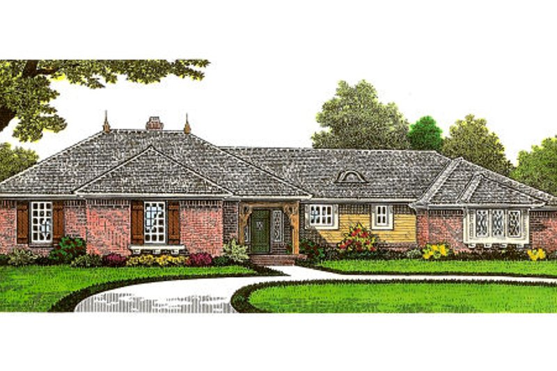 European Exterior - Front Elevation Plan #310-658