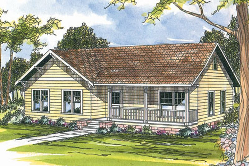 Dream House Plan - Farmhouse Exterior - Front Elevation Plan #124-300