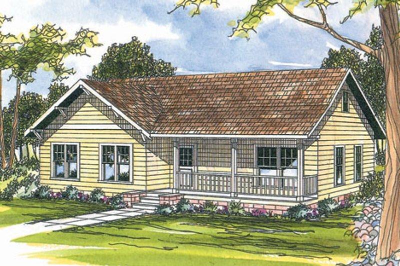 Dream House Plan - Farmhouse Exterior - Front Elevation Plan #124-300