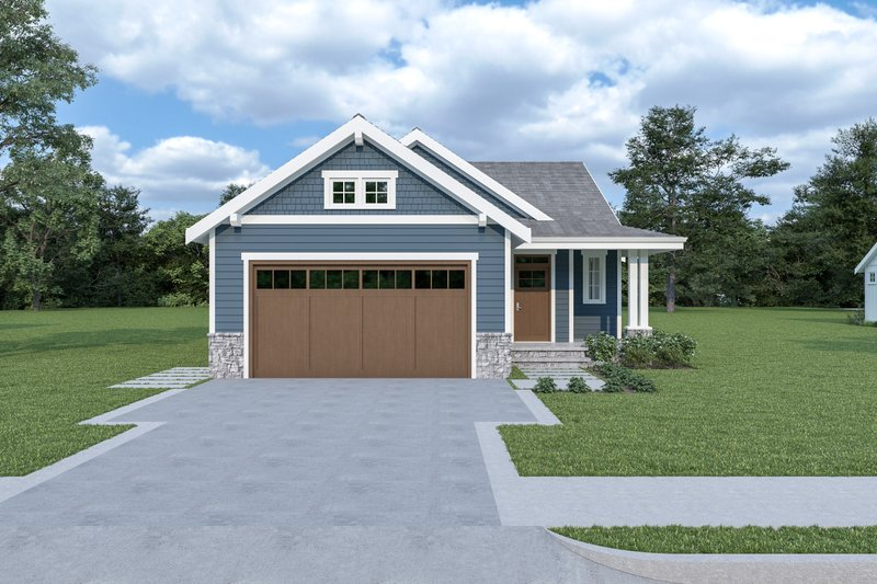 Craftsman Style House Plan - 3 Beds 2 Baths 1561 Sq/Ft Plan #1070-79 Exterior - Front Elevation