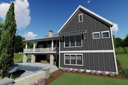 Farmhouse Style House Plan - 3 Beds 2.5 Baths 2479 Sq/Ft Plan #1069-17 Exterior - Rear Elevation