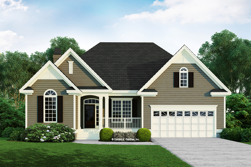 Ranch Style House Plan - 3 Beds 2 Baths 1593 Sq/Ft Plan #929-585 Exterior - Front Elevation