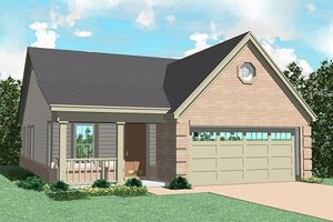 Ranch Exterior - Front Elevation Plan #81-148